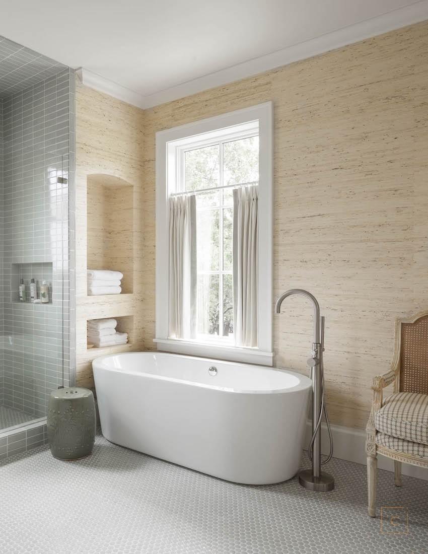 Elegant escape collins interiors for Bathroom wallpaper next